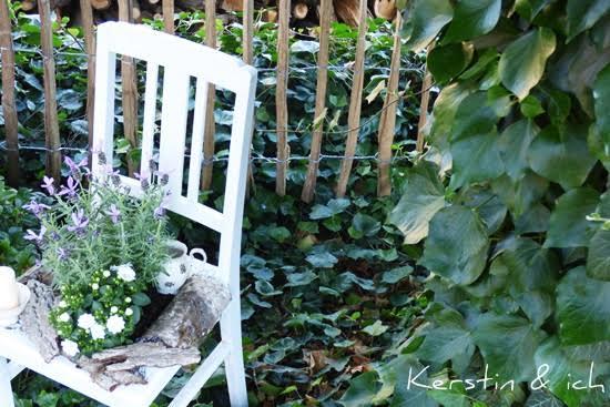DIY bepflanzter Stuhl Garten Deko
