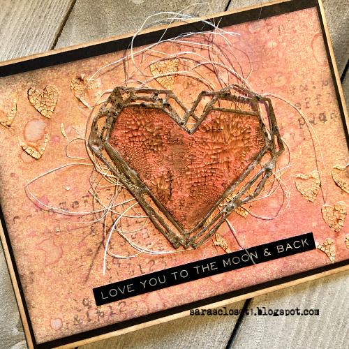 Sara Emily Barker https://sarascloset1.blogspot.com/ Tim Holtz Sizzix Geo Frames Crochet 2 Valentine Card Set Tutorial 4