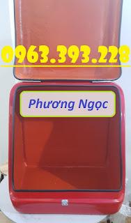 Thùng giao hàng sau xe máy, thùng chở hàng cỡ lớn, thùng chở cơm hộp,  Cdd7b1d77ff384addde2