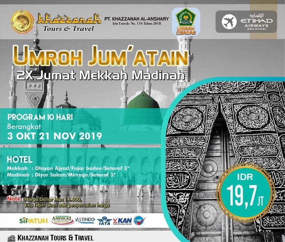 Paket Hajj Plus 2020 Khazzanah Tour