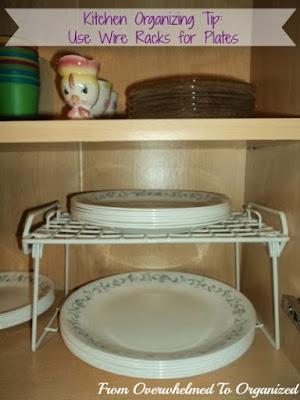 Pohrana stvari u kuhinji - organizator/polica