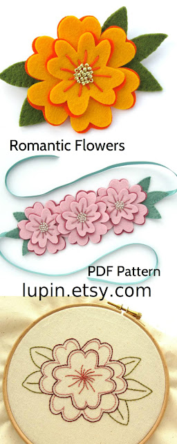 Romantic Flowers PDF Pattern