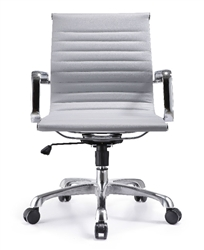 Gray Leather Conference Chair