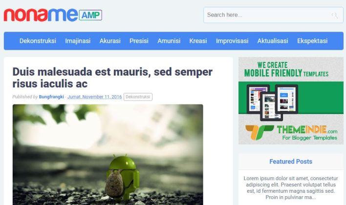 Amp Blogger Template Original Premium Version For Free