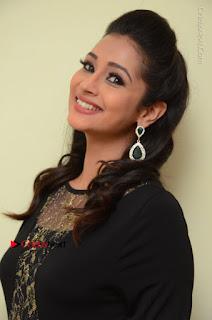 Telugu Actress Manasa Manohar Stills in Black Long Dress at Naku Nene Thopu Turumu Trailer Launch  0034.JPG