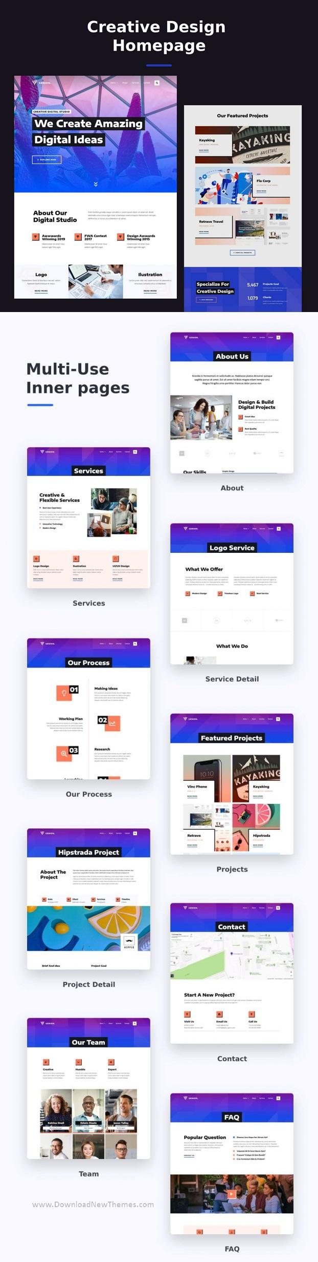 Creative & Design Elementor Template Kit