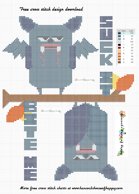 Free Vampire Bat Cross Pattern to Download. Snarky Cross Stitch Design