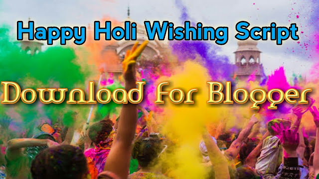 Happy Holi 2021 Wishing Viral Script Free Download