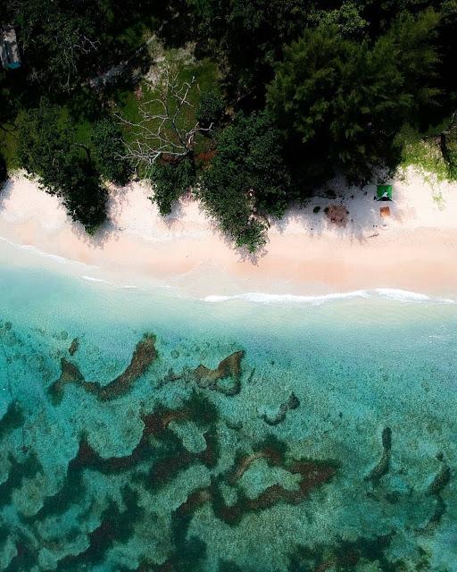 linau beach is tourist destinations in bengkulu indonesia