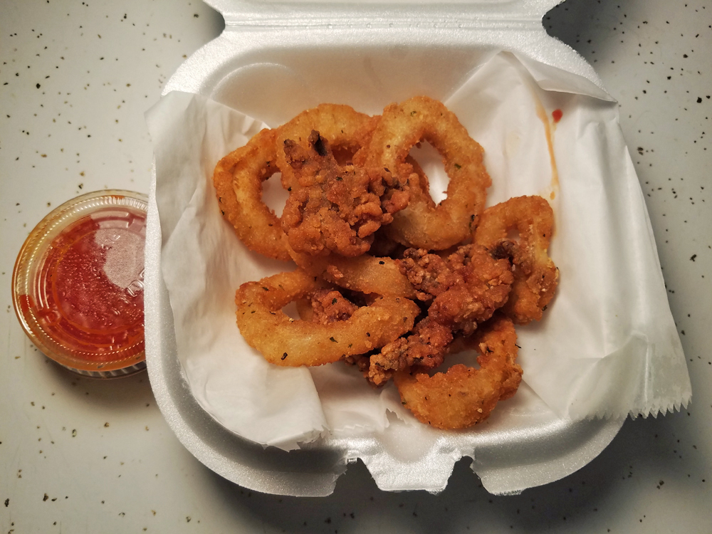 The fried calamari from Little Italy in Memphs, Tennessee
