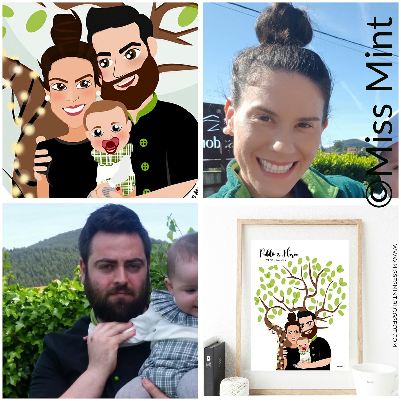 diseño para bodas personalizado Mis Mint | árbol de huellas
