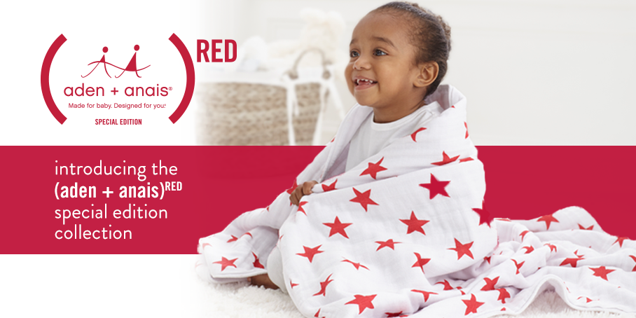 How Aden & Anais (RED) are supporting World Aids Day & *GIVEAWAY* | aden and anais | classic swaddles | red | product red | world aids day | charity | celebrity charity fund | red products | muslins | aids | HIv in babies | shopping power | charity appeal | must have baby items | aden and anais | mamas VIB | giveaway }competition | mamasVIb on Facebook |