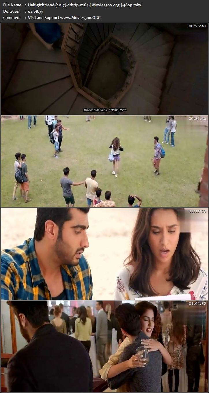 Half Girlfriend 2017 Full 395MB Movie Download DTHRip 480p at movies500.info