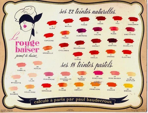 Rouge Baiser, la gamme de maquillage des lèvres - Liste teintes - Monoprix - Blog beauté