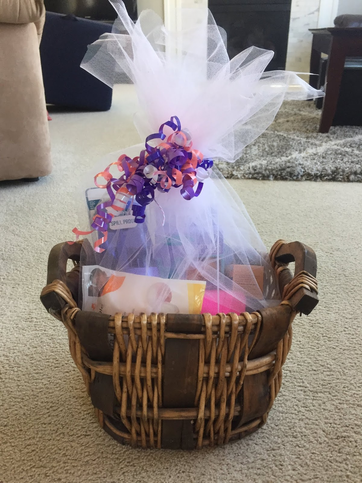 A Homebody At Heart Baby Shower Gift Basket Ideas