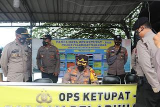 Kapolres Pelabuhan Makassar Cek Pospam Ketupat 2021
