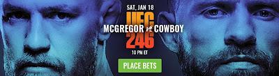 UFC 246 McGregor vs Cerrone Bet Now
