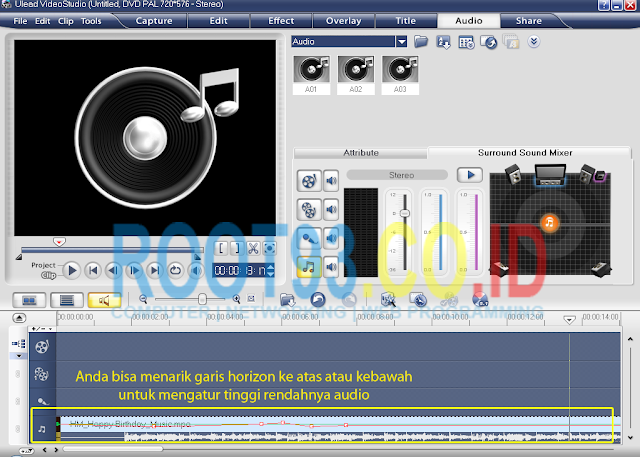 editing audio dengan ulead 7