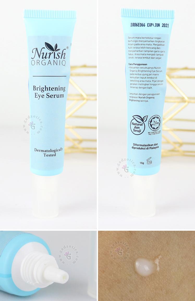 Review Nurish Organiq Brightening Eye Serum