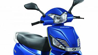 Mahindra Gusto 110cc blue scooter