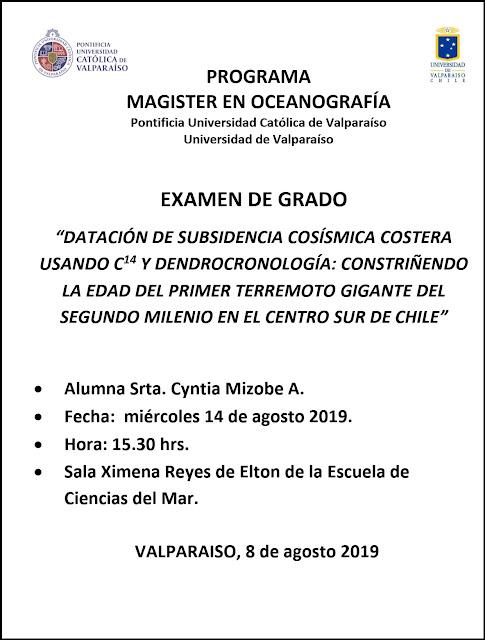 Presentación Examen de Grado Magister en Oceanografía - Cyntia Mizobe
