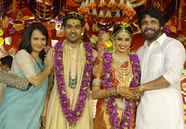 nagarjuna, amala at nimmagadda prasad daughter swathi wedding