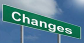Changes sign