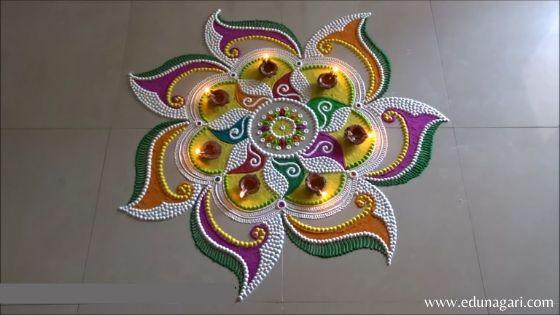 Diwali easy rangoli