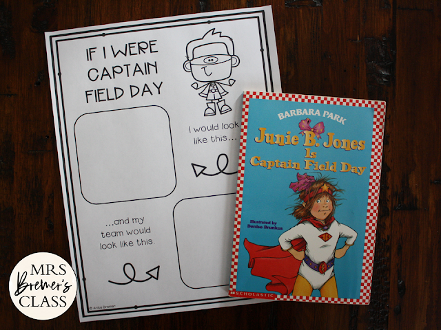 Junie B Jones is Captain Field Day book study unit with Common Core literacy companion activities for 1st and 2nd grade