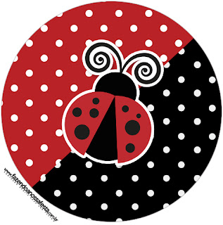 Ladybug Party Toppers or Free Printable Candy Bar Labels.