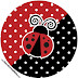 Ladybug Party: Free Printable Cupcake Toppers and Wrappers.