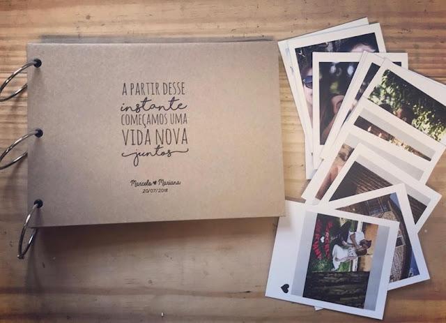 Album de fotografia para presentear a noiva