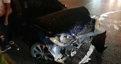 Conductor ebrio impacta carro de Milagro German