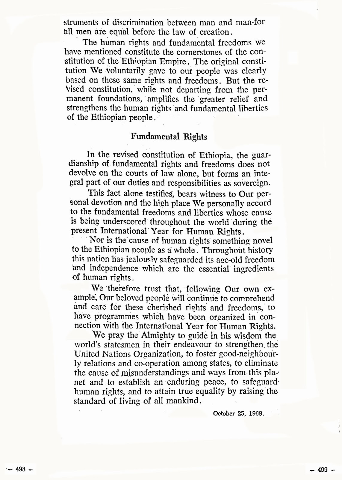 speech over fundamental rights