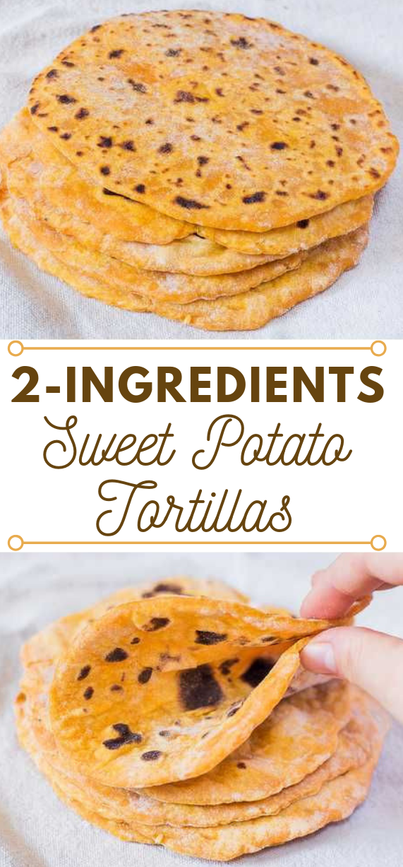 Vegan Sweet Potato Tortillas #vegan #tortilla #diet #vegetarian #food