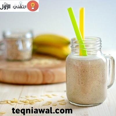 بروتين طبيعي- عصير موز و اللوز