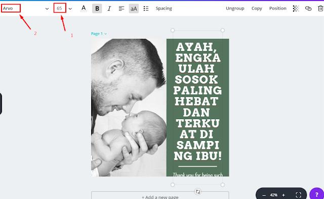 Cara Membuat Gambar Kata-Kata Hari Ayah 2018 lengkap Beserta Gambar