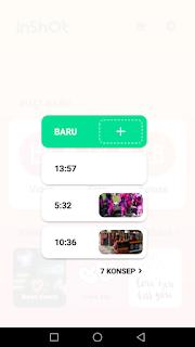 Cara edit video membuat proyek baru menggunakan aplikasi Inshot di Android