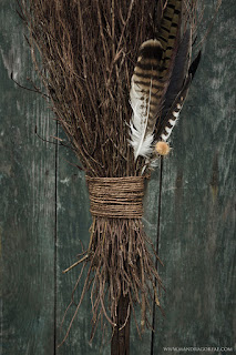 New Besom Broom handcrafted during the lockdown, Broomstick, Mandragoreae by Victoria Francés