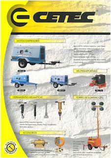 diseño de folleto para CETEC SUDAMERICANA SA
