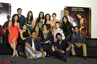 Vidya Balan with Ila Arun Gauhar Khan and other girls and star cast at Trailer launch of move Begum Jaan 017.JPG