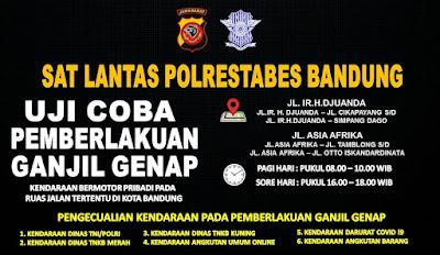 Ganjil Genap Kota Bandung: Berikut Waktu dan Ruas Jalan Yang Menerapkan