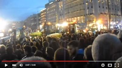 Ρίγη συγκίνησης: Όταν τα τρακτέρ μπούκαραν στην πλατεία Συντάγματος