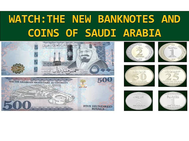 "The Kingdom of Saudi Arabia has officially launched the new Saudi banknotes and coins to commemorate the era of the Custodian of the Two Holy Mosques King Salman.  The new Saudi Arabian money was launched, Tuesday night, December 13 through live streaming by the Saudi Arabian Monetary Authority (SAMA).  This will be the mark of the formal release of the sixth issue of Saudi legal tenders.  Under the motto: ""Confidence and security."", the said banknotes and coins have been released."
