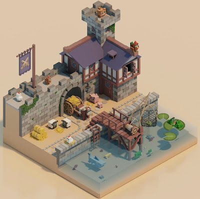 Voxel Animal Dock