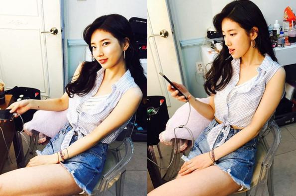 Sao Hàn 15/4: Jessica xinh như nàng thơ, Sulli khoe vai trần quyến rũ