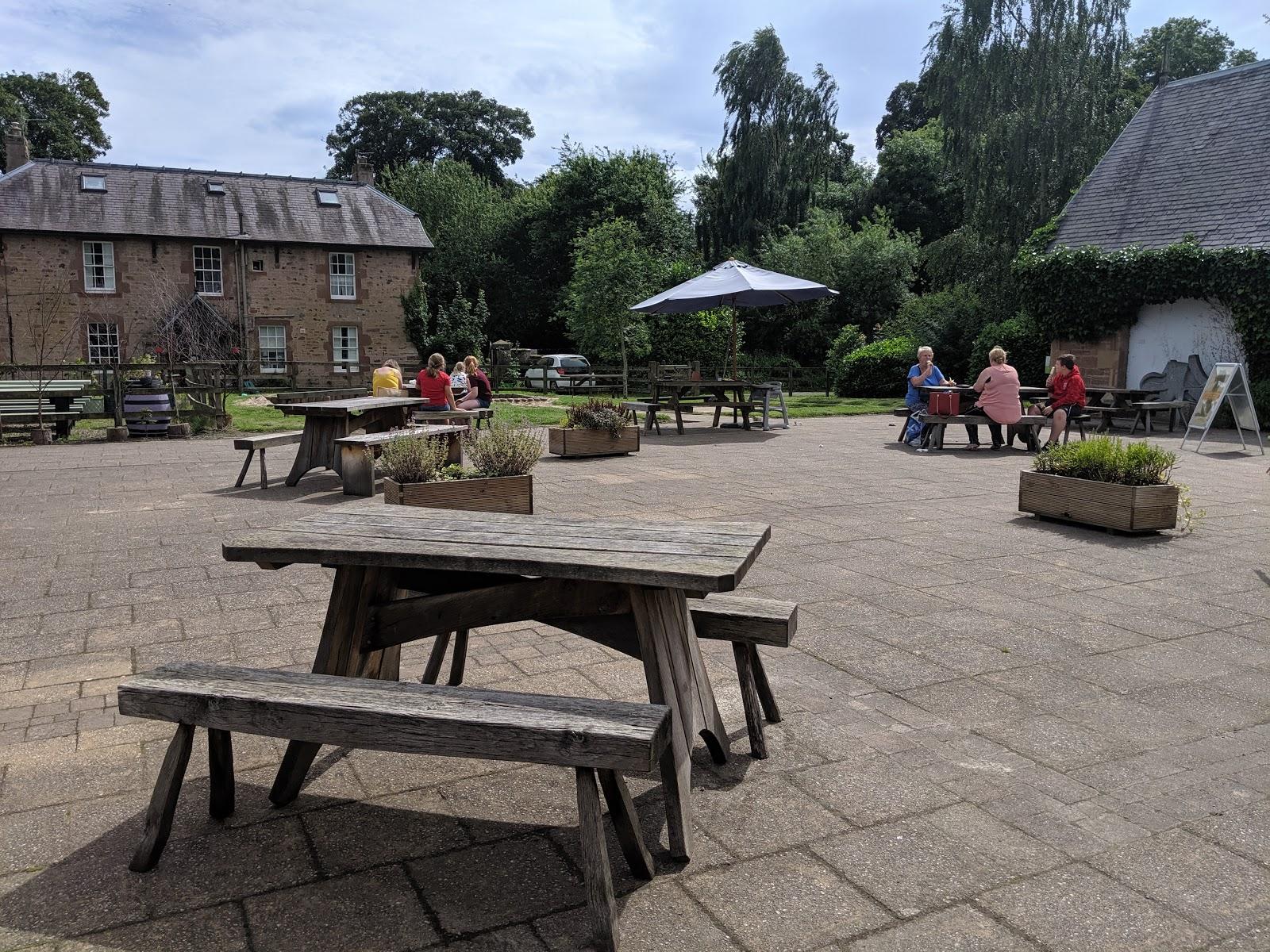 Harestanes Park, Jedburgh  - cafe garden
