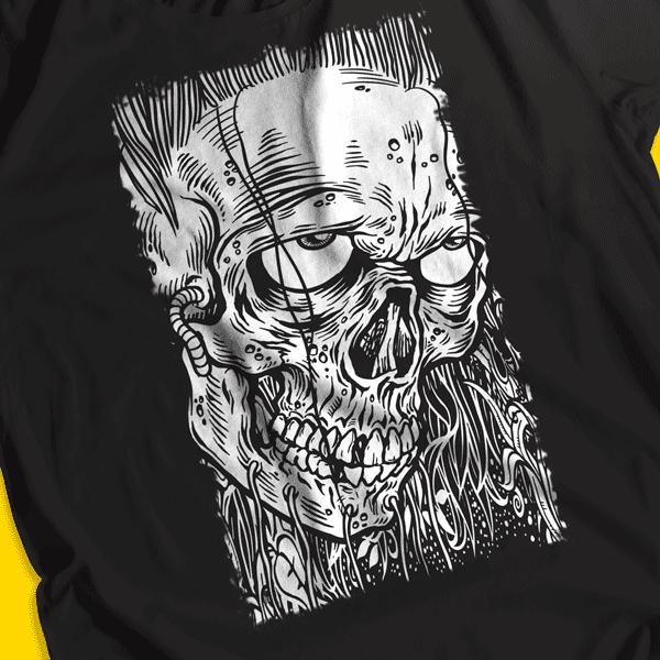 diseno skull face