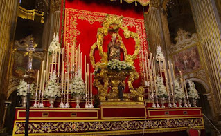 La Virgen de la Victoria será trasladada de forma privada a la Catedral de Málaga para su novena