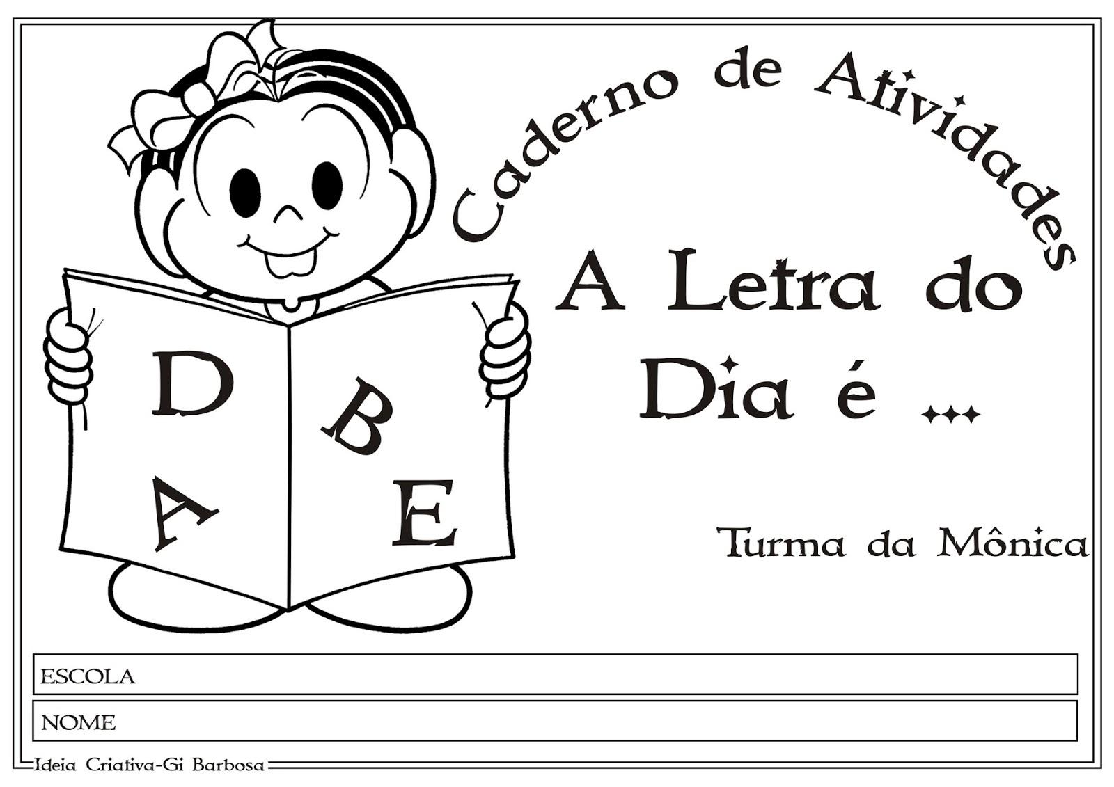 Conhecido Caderno com Atividades Letras do Alfabeto | Ideia Criativa - Gi  RF99